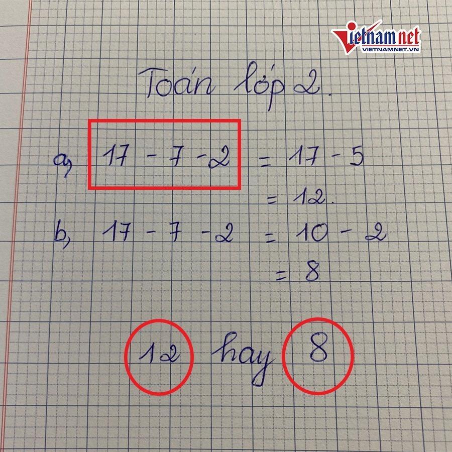 Bài toán lớp 2 dễ không tưởng ai ngờ khiến dân mạng tranh cãi muốn đánh nhau vì dốt - giỏi-1
