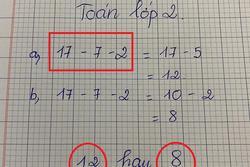 Bài toán lớp 2 'dễ không tưởng' ai ngờ khiến dân mạng tranh cãi muốn đánh nhau vì dốt - giỏi