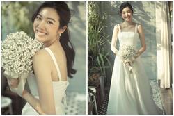 Tưởng chỉ diện mỗi suit như 'tổng tài', Á hậu Thúy Vân khoe ảnh mặc váy cưới đơn giản nhưng đẹp tinh khôi đây này!
