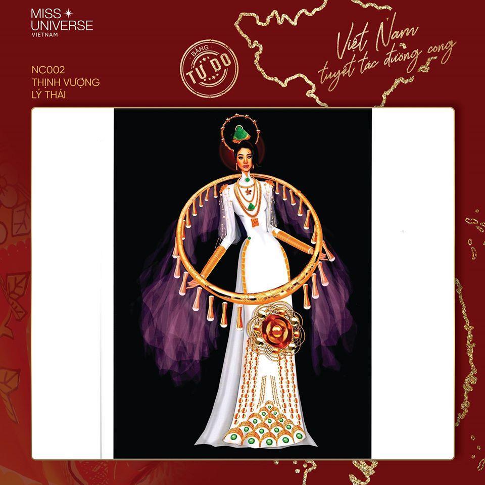 Sau Quốc phục Miss Cai Lậy 7 miếng đất, xuất hiện thêm trang phục dân tộc chống Covid-19 siêu lạ cho Khánh Vân-3