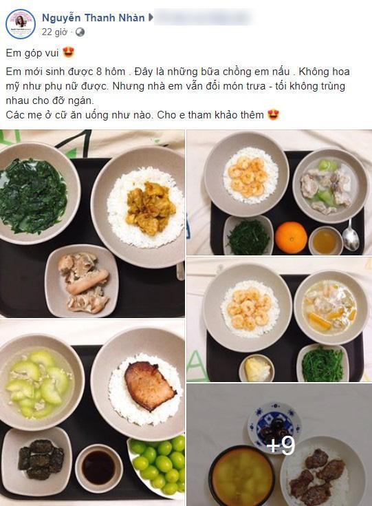 Nhìn bữa cơm ở cữ do chồng người ta nấu, chị em khắp chốn rầm rộ ghen tị-1