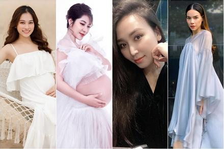4 mỹ nhân Việt đang mang song thai: Người hao cân, người xuống sắc