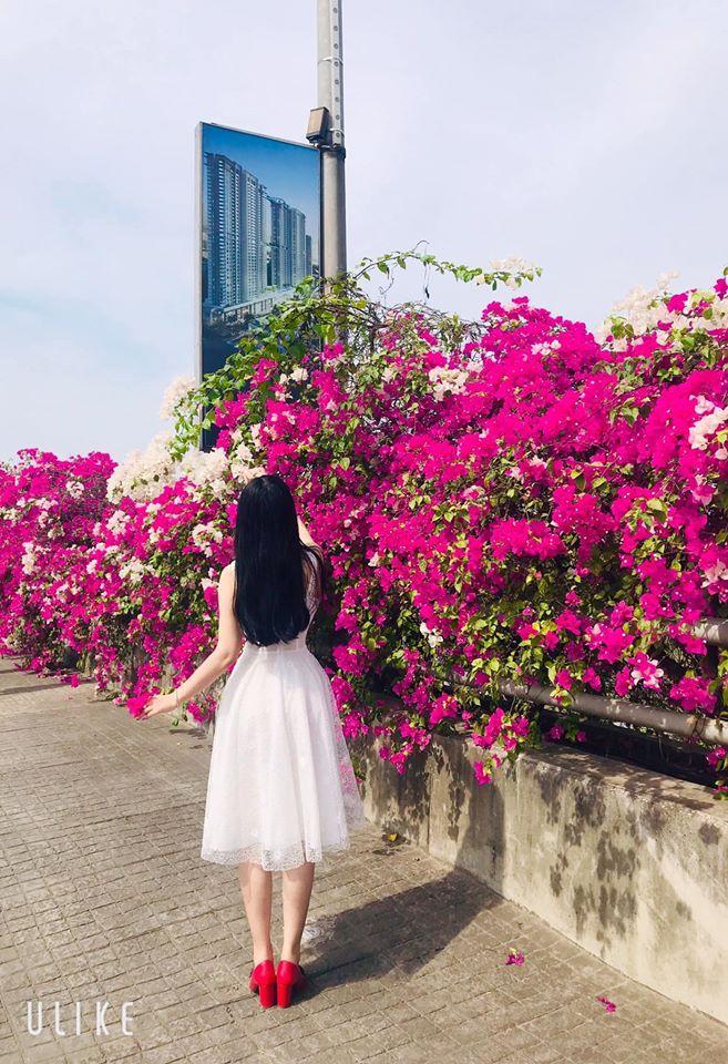 Bạn gái cũ Quang Hải tạo dáng xinh đẹp trên con đường hoa giấy nổi khắp mạng xã hội-11