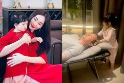 Ái nữ 2 tuổi nhà Đặng Thu Thảo gây sốt với khoảnh khắc mát-xa cho bố