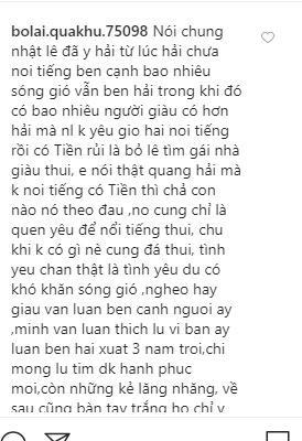 Bố Nhật Lê khuyên bảo khi con gái chia tay mối tình nhiều năm cùng Quang Hải-2