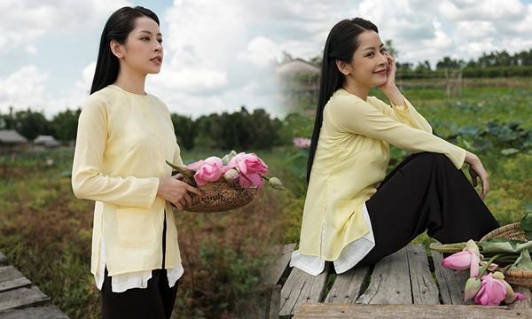 Chiếc áo bà ba biến phái đẹp trở nên dịu dàng đoan trang, kể cả Chi Pu hay Ngọc Trinh-5
