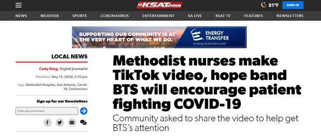 Xôn xao bệnh nhân Covid-19 tại Mỹ tình trạng nguy kịch, hồi phục nhờ nghe nhạc BTS?-1