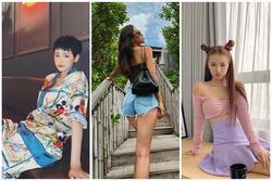 Tiểu Vy diện shorts ngắn cũn suýt lộ vòng 3 phản cảm - Hiền Hồ mặc pijama đi cafe