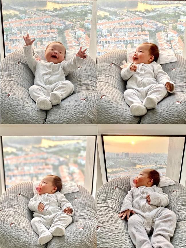 Cưng muốn xỉu ảnh cháu gái 3 tháng tuổi của Trấn Thành lần đầu được mẹ cho diện bikini-6