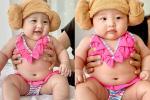 Cưng muốn xỉu ảnh cháu gái 3 tháng tuổi của Trấn Thành lần đầu được mẹ cho diện bikini