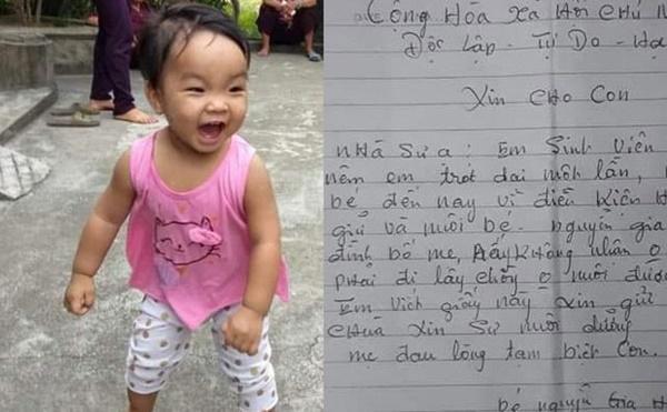 Bé gái xinh xắn sau gần 1 năm bị mẹ bỏ ở chùa để đi lấy chồng giờ ai nuôi?-1