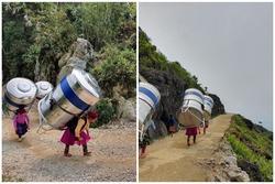 Sự thật về hình ảnh phụ nữ vùng cao cõng bồn nước lên núi