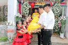Xôn xao dàn phù dâu nhí đỡ tráp trong đám hỏi của cặp đôi ở Vũng Tàu