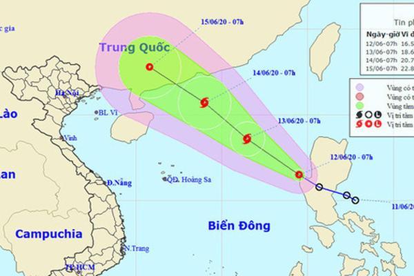 Áp thấp nhiệt đới vào Biển Đông gây gió giật cấp 11, có khả năng thành bão ngày mai-1