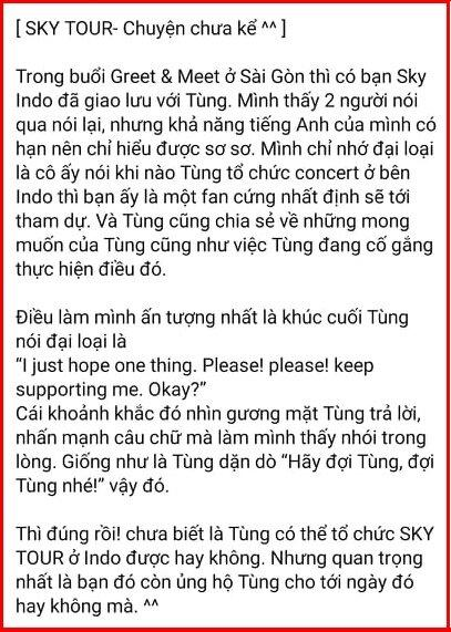 Sơn Tùng M-TP mong muốn mang Sky Tour đến Indonesia, lý do đằng sau lại ngọt ngào thế này-2