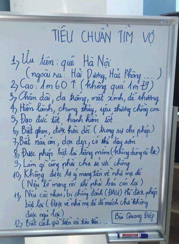 Những lần tuyển vợ gây sốc của quý ông Việt: Hạnh kiểm tốt, không được mang tiền về nhà đẻ-5