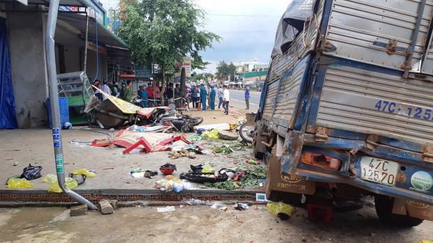 Khởi tố vụ xe tải lao vào chợ ở Đắk Nông khiến 10 người thương vong-1