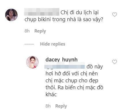 Á hậu Thùy Dung mặc bikini chụp ảnh trong nhà, nhờ dân mạng photoshop ở bãi biển vì lý do tế nhị-3