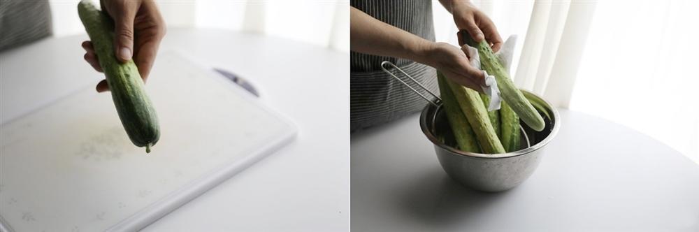 Đầu bếp nhà hàng chỉ cách làm dưa chuột muối chỉ trong 10 phút, để dành ăn được cả tuần-1