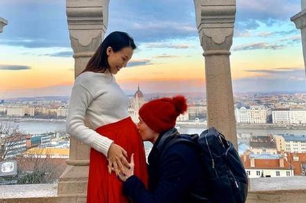 Thương bà bầu Hoàng Oanh: Xa chồng gần cả thai kỳ, đẻ chồng cũng khó có mặt