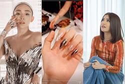 Đừng tô xanh đỏ tím vàng nữa, móng tay bạc lấp lánh mới là chân ái của quý cô Vbiz