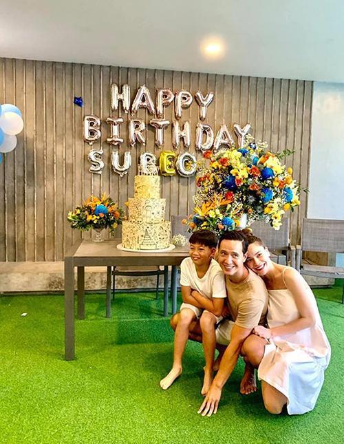 Hồ Ngọc Hà cùng Kim Lý tổ chức sinh nhật Subeo-3