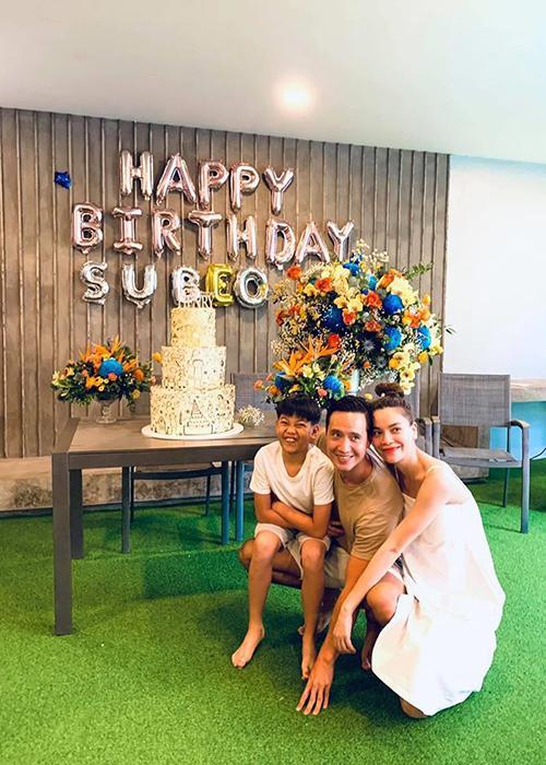 Hồ Ngọc Hà cùng Kim Lý tổ chức sinh nhật Subeo-4