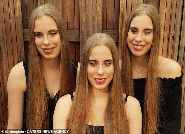 Mẹ than phiền vì 3 con gái làm gì cũng hệt nhau, không thể phân biệt-2