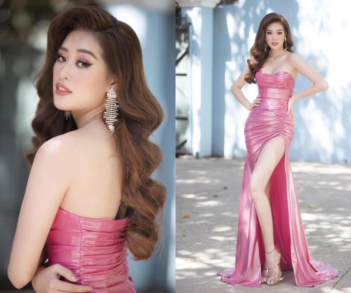 Trang phục hồng cánh sen khó nhằn được Chi Pu - HHen Niê cân đẹp-2