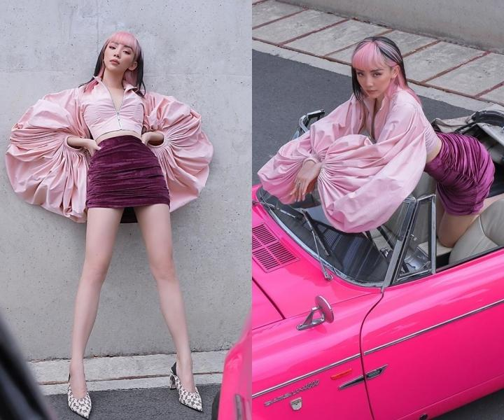 Trang phục hồng cánh sen khó nhằn được Chi Pu - HHen Niê cân đẹp-6
