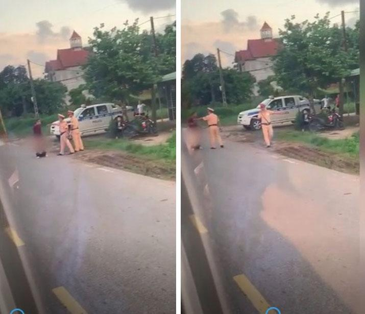 Bị CSGT Quảng Ninh dừng xe, người đàn ông tụt quần, chìa bộ phận nhạy cảm ra ăn vạ-2