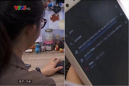 Biên tập viên VTV3 để lộ nhiều tên web đen trên kênh truyền hình quốc gia