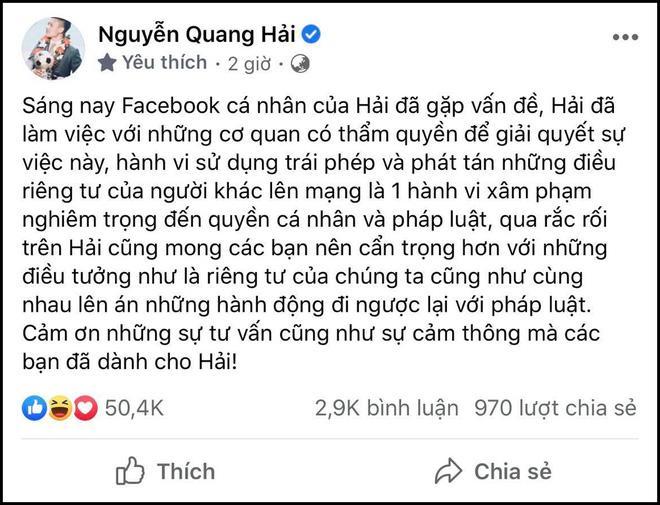Bị tổng công kích khi lộ tin nhắn nhạy cảm, Quang Hải làm điều chưa từng có với antifan-2