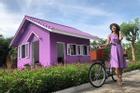 Dân mạng lùng sục căn nhà màu tím mộng mơ ở Cần Thơ
