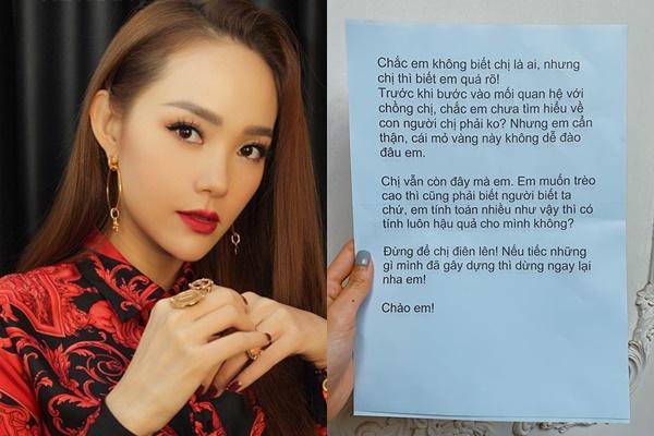Minh Hằng nhận được thư tố cáo giật chồng người-1