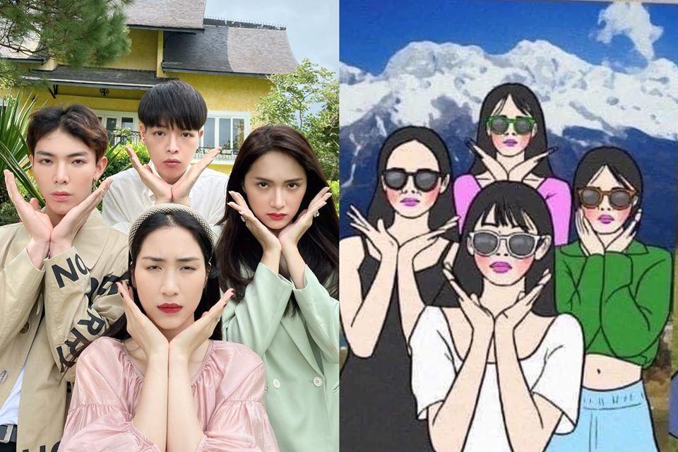 Hương Giang và nhà Hoa dâm bụt siêu lầy hướng dẫn dân mạng tạo dáng chụp ảnh khi đi du lịch-2