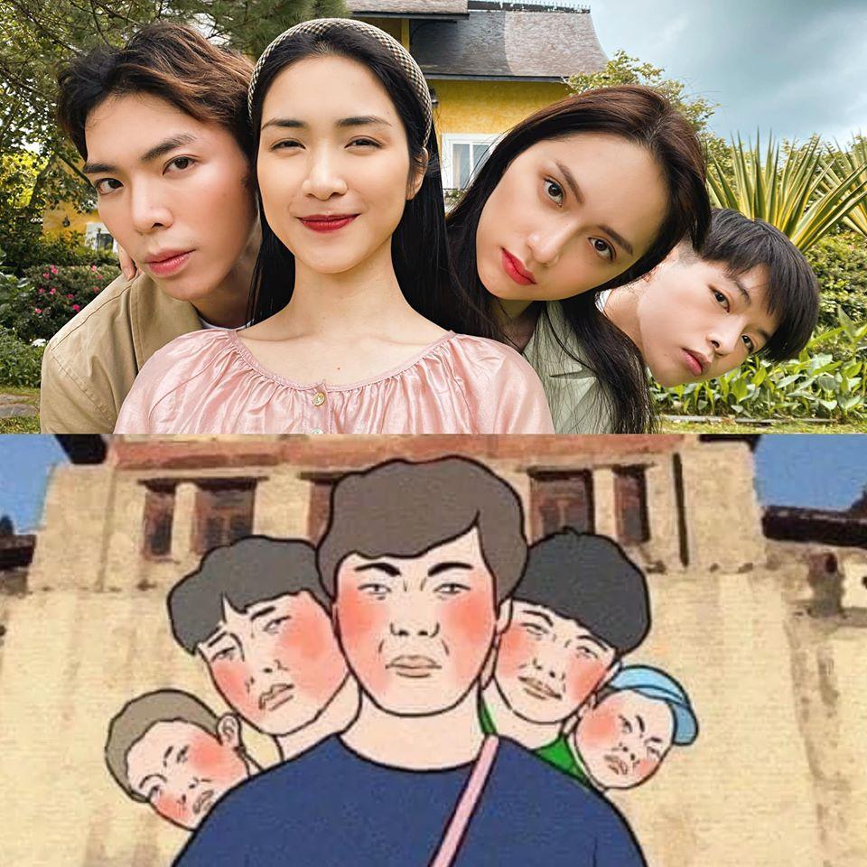 Hương Giang và nhà Hoa dâm bụt siêu lầy hướng dẫn dân mạng tạo dáng chụp ảnh khi đi du lịch-7