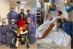Hoa hậu Colombia xuất viện sau phẫu thuật cưa chân