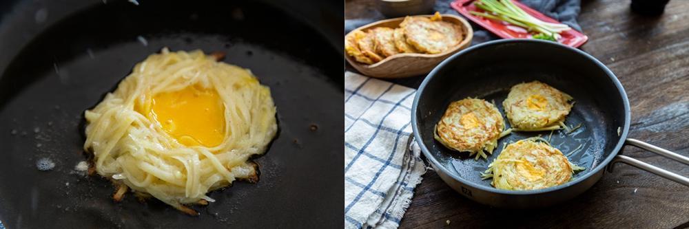 Đổi món cho bữa sáng với bánh khoai tây thơm ngon làm chỉ trong 4 bước đơn giản-4