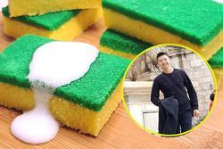Chàng đầu bếp Indonesia chỉ cách làm bánh kem tạo hình mút rửa bát 'ảo diệu'