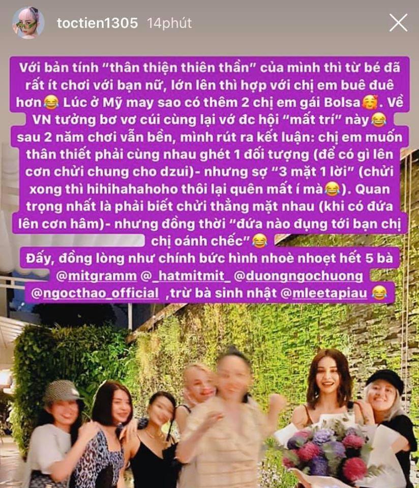 Tóc Tiên nói gì khi Chi Pu và Quỳnh Anh Shyn cạch mặt