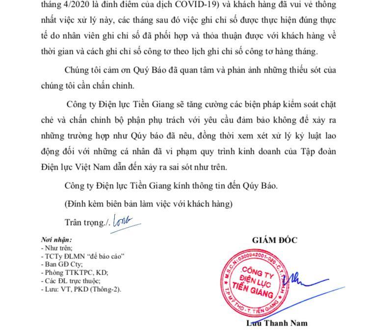 EVN Tiền Giang nhận sai sót hoá đơn tiền điện 6 tháng liền giống nhau-2