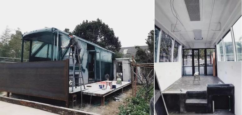 Ngôi nhà nghệ thuật làm lại từ chiếc xe bus bị bỏ hoang-2
