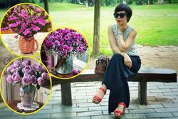Mãn nhãn với bộ sưu tập bình hoa 'tím lịm tìm sim' của người phụ nữ Hà Thành