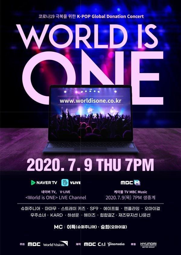 MBC công bố dàn Lineup đổ bộ concert từ thiện online World Is One-1