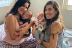 Cặp đồng tính nữ cùng mang thai, sinh con cách nhau 3 ngày