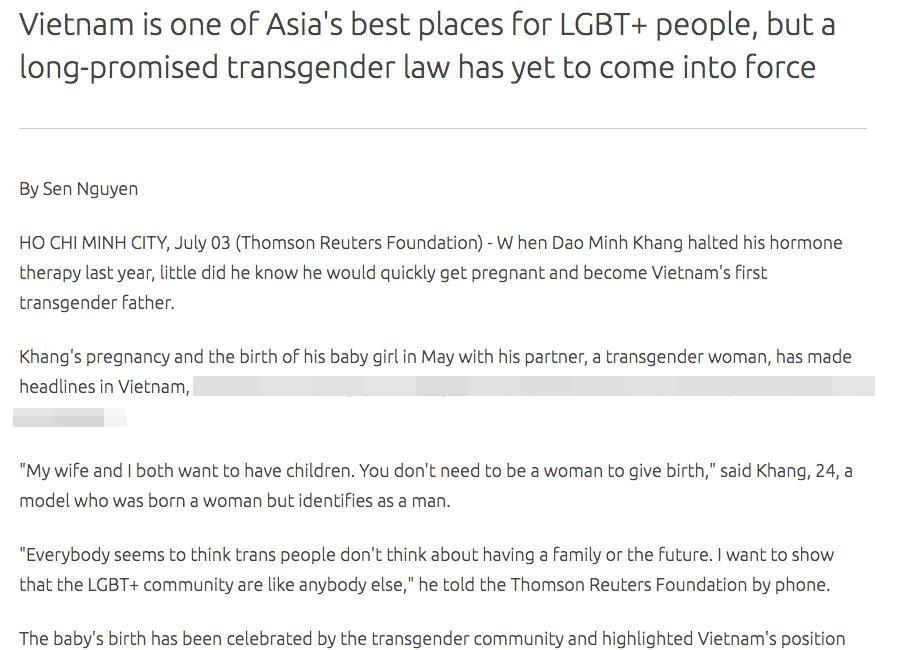 Người đàn ông đầu tiên sinh con ở Việt Nam được báo nước ngoài ầm ầm đưa tin-3