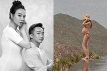 Bụng bầu to sắp đến ngày sinh, Đàm Thu Trang tạo dáng nhìn sợ nổi gai ốc