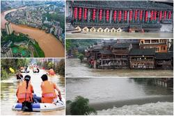 Những hình ảnh đáng sợ về cơn 'đại hồng thủy' miền Nam Trung Quốc gây ra bởi những cơn mưa dai dẳng kéo dài hơn 30 ngày