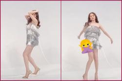 Hương Giang lộ luôn vòng 3 vì mê váy ngắn mà ham nhún nhảy